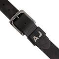 Armani Jeans black leather casual belt P61116 UI AJM1422