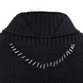 Thug or Angel Sweater Men's Jet Black collection black button up showl collar knitted cardigan. JBLK3940