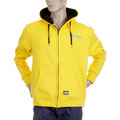 RMC Martin Ksohoh MKWS Mens Yellow Laurel Leaf Printed Hooded Zip Up Regular Fit Sweatshirt REDM2321