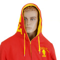 RMC Martin Ksohoh MKWS Empire Monkey Flock Printed Red Hooded Zipped Regular Fit Sweatshirt REDM2332