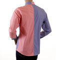 RMC MKWS Mens Regular Fit Red and Navy Patch Shirt with Long Sleeve Button Down Collar REDM2111