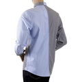 RMC MKWS Mens Regular Fit Blue and Black Patch Shirt with Long Sleeve Button Down Collar REDM2109