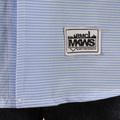 RMC Martin Ksohoh MKWS Mens Blue Striped Patch Sleeve Button Down Collar Regular Fit Shirt REDM2110
