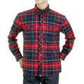 RMC Martin Ksohoh MKWS Mens Red Check Button Down Collar Long Sleeve Regular Fit Shirt REDM2296