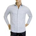 RMC Martin Ksohoh MKWS Mens Sky Check Soft Penny Collar Long Sleeve Regular Fit Shirt REDM2307