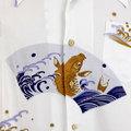 RMC Martin Ksohoh Regular Fit Short Sleeve Pale Blue Carp in Lake Printed Shirt for Men REDM0913