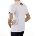 RMC Martin Ksohoh White Regular Fit Crew Neck T Shirt with Skull Poker Playing Card Print REDM1166