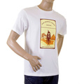 RMC Jeans Short Sleeve Regular Fit Crewneck Camel Cigarette Packet Printed T-shirt in White REDM1164