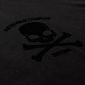 RMC Jeans Short Sleeve RQT1056B Flock Printed Black Skull and Crossbones Regular Fit Crew Neck T-Shirt REDM2115