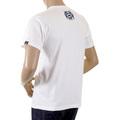 RMC Martin Ksohoh Cotton Regular Fit RQT1049 Vintage Crewneck Short Sleeved White T-Shirt for Men REDM2095