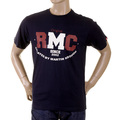RMC Jeans Regular Fit Cotton RQT1049 Crewneck Vintage Short Sleeved Navy T-Shirt for Men REDM2096