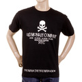 RMC Martin Ksohoh Crew Neck RQT1054 Regular Fit NYC White Skull Printed Short Sleeve Black T-Shirt REDM2126