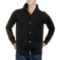 RMC Martin Ksohoh MKWS Mens Black Heavy Gauge Button up Regular Fit Jacket with Shawl Collar REDM2349
