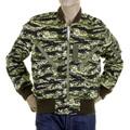 RMC Martin Ksohoh MKWS Camouflage Green Zip Up Regular Fit Bomber Jacket for Men REDM2346