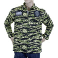 RMC Martin Ksohoh Mens Tiger Camo Green Zip Up Regular Fit Field Jacket REDM2358