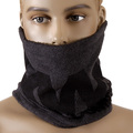 RMC MKWS Charcoal Grey Fleece Tsunami Waves Reversible Neck Warmer Snood for Men REDM5495A