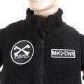 RMC Martin Ksohoh Black Plush Fleece Sleeveless Regular Fit Papamamason Vest Gillet for Men REDM5829