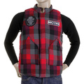 RMC Martin Ksohoh Down Filled Red Check Regular Fit Padded Gilet For Men REDM5836