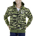 RMC Jeasn Mens RQZ1087 Green Tiger Camo Regular Fit Zip Up Hooded Jacket REDM2305