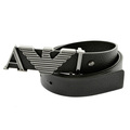 Armani Jeans black leather casual belt Q6102 59 AJM2410