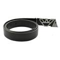 Armani Jeans black leather casual belt Q6102 59 AJM2410