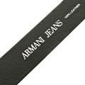 Armani Jeans casual black leather belt Q6115 60 AJM2253
