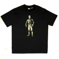 RMC Jeans X Headstone Collectors Item C-3PO Printed Black Regular Fit Crewneck T-Shirt HEAD3774