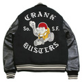 Whitesville Letterman WV11375 Black Body Black Raglan Sleeve Crank Buster Regular Fit Jacket WHIT3781A