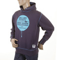 RMC Jeans Mens Large Fitting Navy Blue RWC141264 Hooded Pullover Sweatshirt with Crazy Children Print REDM0926
