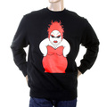 RMC Jeans Black Crew Neck Large Fitting RWH141264 Sweatshirt for Men with Red My Girl Print REDM0939