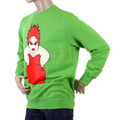 RMC Jeans Lime Gren Crew Neck Large Fitting RWH141264 Sweatshirt for Men with Red My Girl Print REDM0956