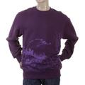 RMC Jeans Purple Crew Neck Large Fitting RWC141161 Sweatshirt with Lilac Toyo Story Mountain Print REDM0946