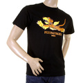RMC Martin Ksohoh Black Crew Neck RQT11024 Short Sleeve Regular Fit T-Shirt with Flying Tiger Print REDM0061
