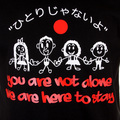 RMC Jeans Limited Edition Short Sleeve RQT11025 Regular Fit Pray for Japan Crewneck T Shirt in Black REDM0048