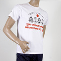 RMC Jeans Limited Edition Regular Fit RQT11025 Pray for Japan Short Sleeve Crewneck White T Shirt REDM0050