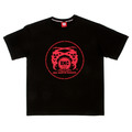RMC Martin Ksohoh Red Logo Printed Black Crew Neck Short Sleeve Regular Fit T Shirt REDM0099