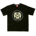 RMC Martin Ksohoh Off White Logo Printed Black Crew Neck Short Sleeve Regular Fit T Shirt REDM0108