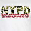 RMC Martin Ksohoh Regular Fit RQT11063 Short Sleeved Crewneck NYPD Camo Printed T Shirt in White REDM0992