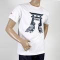 RMC Martin Ksohoh Short Sleeve RQT11065 Regular Fit Crew Neck Pigeon Navy Printed T-Shirt in White REDM0977