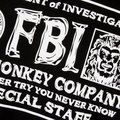 RMC Martin Ksohoh Short Sleeve RQT1106 Crew Neck Regular Fit Black Cotton FBI Printed T Shirt REDM0993