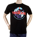 RMC Martin Ksohoh Regular Fit RQT11075 Short Sleeved Black Tsunami Crewneck T Shirt REDM0966