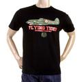 RMC Martin Ksohoh Regular Fit RQT1076 Short Sleeve Crew Neck Tiger Plane Printed T Shirt in Black REDM0968