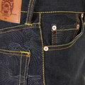 RMC Martin Ksohoh jeans full back Charcoal Tsunami wave REDM1775