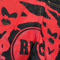 RMC Jeans Super Exclusive LOGOA 100% Cotton Red Painted Logo Denim Cargo Shorts for Men REDM3732