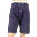 RMC Jeans Super Exclusive Purple Tsunami Wave Embroidered Genuine Selvedge Denim Shorts REDM3740