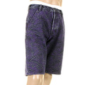 RMC Jeans Super Exclusive Purple Tsunami Wave Embroidered Genuine Selvedge Denim Shorts REDM3740