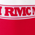RMC RQU12007 Mens Red Stretch Cotton Trunks with Deep Elasticated White Waistband and Red Woven Logo RMC003