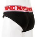 RMC Martin Ksohoh RQU12006 Mens Black Stretch Cotton Briefs with White Waistband RMCB003