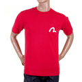 Evisu Short Sleeve Regular Fit Fine Ribbed Crew Neck T Shirt in Red EVIS0721