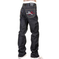 RMC RQP11105 Super Exclusive 9th Anniversary Mizuhiki Knot Embroidered Selvedge Indigo Denim Jeans REDM1206